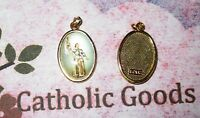 St. Saint Joan of Arc Italian 1 inch Gold Tone and Enameled - Medal