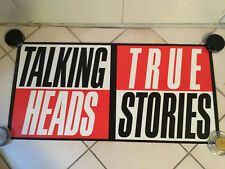 VINTAGE 1986 TALKING HEADS TRUE STORIES PROMO POSTER