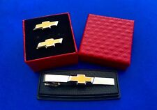 Tie Bar And Matching Cuff Links Chevy Tie Clip & Matching Cufflinks Auto