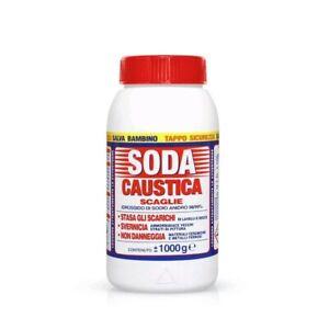 Marten 1 Kg soda caustica a scaglie per uso industriale e domestico per svernici