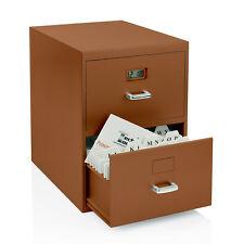 Tech Tools Business Cards Miniature File Cabinet W Digital Clock Brown Pi 9617