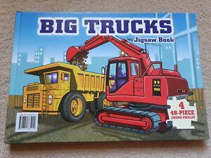 Big Trucks Jigsaw Book 4 x 48 Piece Jigsaws