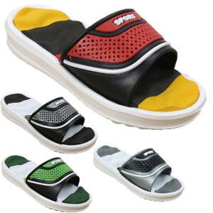 Boys Sport Kids Slip Slide On Summer Sliders Infants Children Flip Flops Sandals