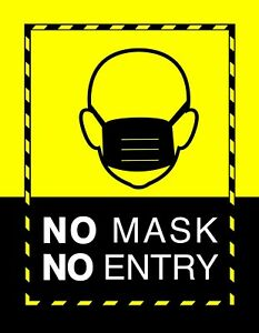 Mask Requirement Signs - Window Cling (x25 pack)