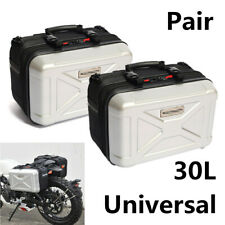 Pair 30L Motorcycle Side Case Luggage Tank Cargo Tail Box Rear Luggage Saddlebag