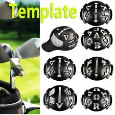 Buy golf ball stencil in golf ball markers ebay mark golf ball stencil monogrammer marker template drawing line kit pen black maxwellsz