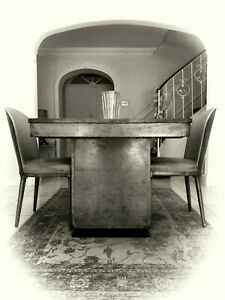 ART DECO DINING TABLE + CLOUD STYLE CHAIRS, BAUHAUS - 'JUNIOR EPSTEIN' - HEALS??
