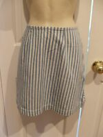 new/pk frederick's of hollywood blue/white stripe skirt made in USA  size 7