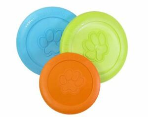 West Paw Zisc Dog Disc US Made Dog Frisbee Heavy Duty Flexible Fetch Dog Toy