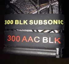 """300 AAC Blackout SUBSONIC Magazine ID Band.""""COMBO"""" 1 Subsonic And 1 Regular Band"""
