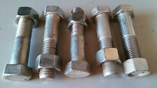 """7/8-9 X 4"""" Stainless Steel Hex Bolt (5pcs) with Nuts"""