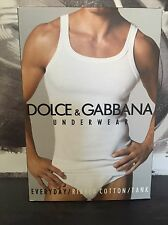 Dolce & Gabbana Para Hombre Negro Ropa Interior Camiseta sin mangas/Chaleco. nuevo y en caja. Talla L. PVP £ 80