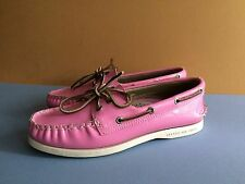 Sperry Top Sider - Bubble Gum Pink Patent Leather - Boat Loafer Shoes Women's 6