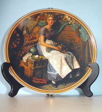 "Norman Rockwell Dreaming In The Attic Collector Plate 8.5"" Edwin Knowles Ltd Edt"