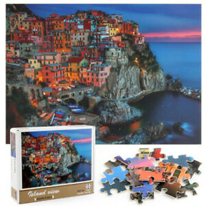 Buffalo Games Cinque Terre 1000 Piece Signature Jigsaw Puzzle Multicolor Fall