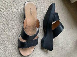 Colorado Black Leather Sandal Size 8