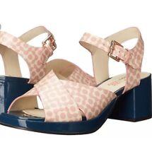 "Orla Kiely ""Blanche "" Floral With Navy Heel Size 5 UK 7 US Nib"