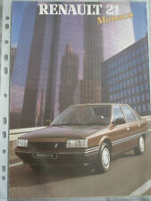 Renault 21 monaco brochure jun 1987
