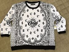 COOGI Womens Sweatshirt Black White Size 3X XXXL Extra Extra Large Retail $79
