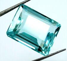 EGL Certified Natural Apatite Birthstone 31.10  Ct Emerald Shape Loose Gemstone