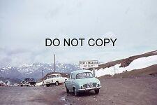 35mm COLOUR SLIDE - 1960s or 70s - PORT D ENVALIRA PYRENEES ANDORRA CARS PARKED