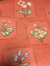 Lot 1-5 New Rolls Thibaut Floral Wallpaper 56.37 Sq ft.ea. 839-T-2932 flowers.