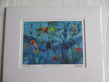 Signed and mounted limited edition print 'Under Water Wonders' by Jasmine Mercer