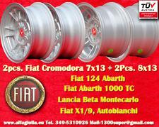 4 Cerchi Fiat Cromodora 2 CD66 7x13 + 2 CD80 8x13 Wheels Felgen llantas jantes