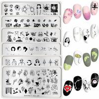 BORN PRETTY Nail Art Stamping Schablonen Rectange Artist Nagel Stempel Schablone