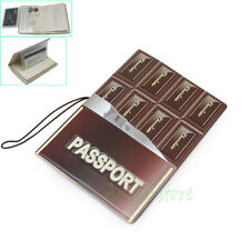 Chocolate 3D Identity Card Passport Holder Protect Cover CASE for Travel Journey