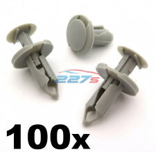 100x 8mm Long Gris Clair Bordure Clips VW T4 & T5 Tapis & Van Doublure