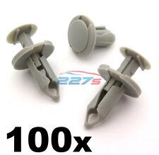 100x 8mm Lungo Grigio Chiaro Bordo clip- VW T4 & T5 Tappetino & Furgone