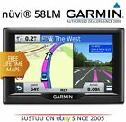 "Garmin Nuvi 58LM EU│5"" In Car GPS SATNAV   Free LifeTime UK Europe Maps Updates"
