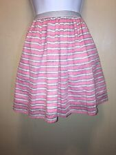 Tommy Girl large skirt red blue white striped with elastic waist