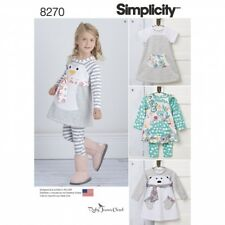 Simplicity Sewing Pattern 8270 Toddlers Knit Dress Tunic & Leggings