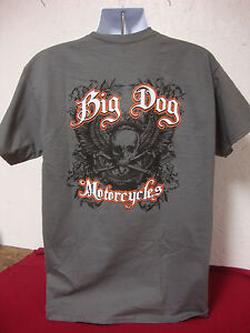 BIG DOG MOTORCYCLES XL BONE EATER SHIRT LOGO FRONT/BACK CHOPPER MASTIFF K-9