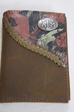 ZEP-PRO Texas A&M Aggies Fence Row Camo Leather Trifold Wallet Tin Gift Box