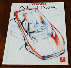 Citroen Activa design study brochure Prospekt, 1988