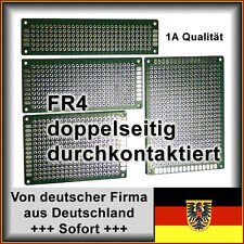 Lochrasterplatine Leiterplatte PCB Experimentierplatine Streifenraster 2x8cm FR4