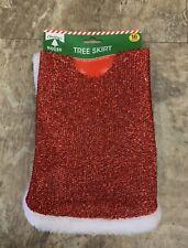 Christmas Tree Skirt Apron Santa Snowman Claus Party Decor 18 Inch