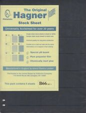 Stamp Stock Sheets Double Sided 6 Row Pack of 5 Black Pages Hagner High Quality