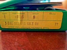 Rcbs Reloading 3 Die Set 45 Colt W/Shell Holder Included
