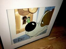 Hanna Barbera signed Cel Inch Eye Private Eye RARE SUPER 70's Animation Art cell