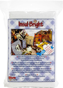 """Insul-Bright Needlepunched Insulated Lining, 45"""" x 1 Yard Quilt Batting Quilting"""