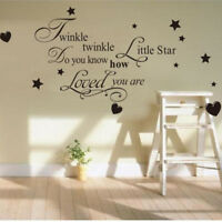 Twinkle Twinkle Little Star Wall Sticker Quote Art Decal Kids Children Decor