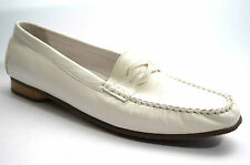 3043# Sioux Scarpe Morbido Pantofola In Pelle Gr-44 (UK 10 ) Bianco Mocassino