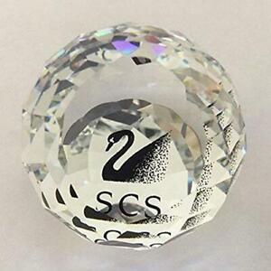 Swarovski Member Paperweight Black Swan SCS Retired Silver Crystal