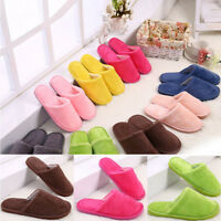 Fashion Women Men Cotton Plush Warm Slippers Home Indoor Winter Slippers Shoes