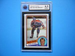 1984/85 TOPPS NHL HOCKEY CARD #51 WAYNE GRETZKY KSA 8.5 NM/MINT+ SHARP!! 84/85
