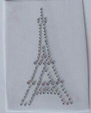 Eiffel Tower Appliqué, Eiffel Tower Rhinestone Transfer, Paris DIY Iron on Bling